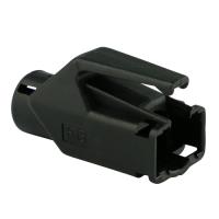 Knickschutztülle Hirose für TM11 / TM21 / TM31 Stecker mit Rastnasenschutz, schwarz, Seite A