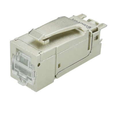C6AS CUBEconnect Keystone Modul Cat.6A 180°, geschirmt