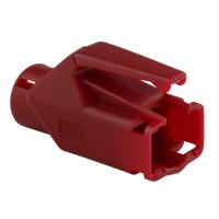 Knickschutztülle Hirose für TM11 / TM21 / TM31 Stecker mit Rastnasenschutz, rot, Seite A
