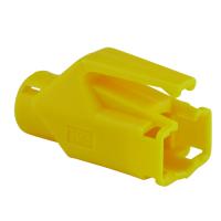 Knickschutztülle Hirose für TM11 / TM21 / TM31 Stecker mit Rastnasenschutz, gelb, Seite A