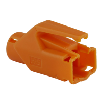 Knickschutztülle Hirose für TM11 / TM21 / TM31 Stecker mit Rastnasenschutz, orange, Seite A