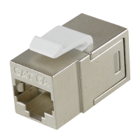 CC6AS2 RJ45 Keystone Inline Coupler Cat.6A geschirmt, mit...