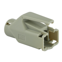 Knickschutztülle Hirose für TM11 / TM21 / TM31 Stecker mit Rastnasenschutz, grau, Seite A