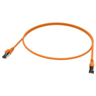 PRO-900M RJ45 Patchkabel 10 GbE/500 MHz. Cat.7 S/FTP Rohkabel LSOH Orange
