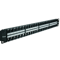 48 Port Panel 19 / 1HE, ungeschirmt, Kabelmanagement,...
