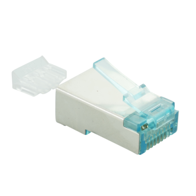RJ45-modular Stecker Cat.6 , geschirmt, Transparent