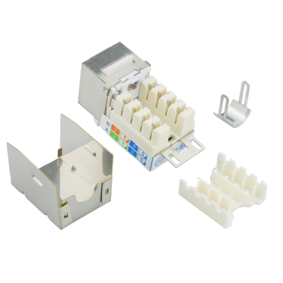 QUICKlock45 C6SQ1 RJ45 Keystone Modul Cat.6 geschirmt