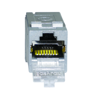 Basic FX RJ45 Keystone Modul Cat.6A 180°, geschirmt